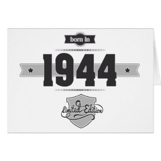 Born in 1944 (Dark&Lightgrey) Greeting Card