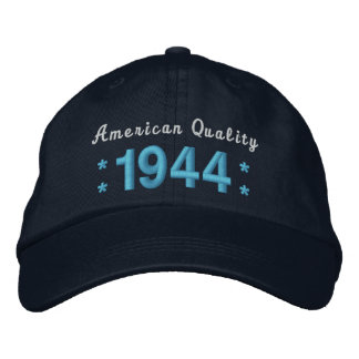 Born in 1944 or Any Year 70th Birthday A01 BLUE Embroidered Hats