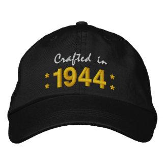 Born in 1944 or Any Year 70th Birthday V01 BLACK Baseball Cap