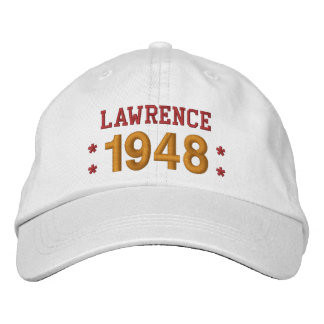 Born in 1948 or Any Year 70th Birthday V09C WHITE Baseball Cap