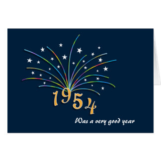 Born in 1954 Birthday Greeting Card
