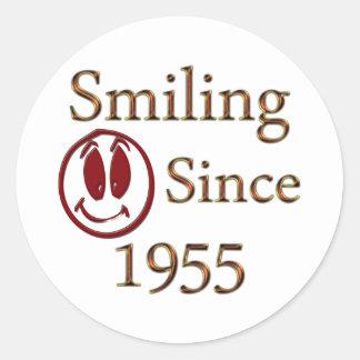 Born in 1955 round sticker