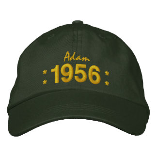 Born in 1956 or Any Year 60th Birthday V07C GREEN Embroidered Baseball Caps
