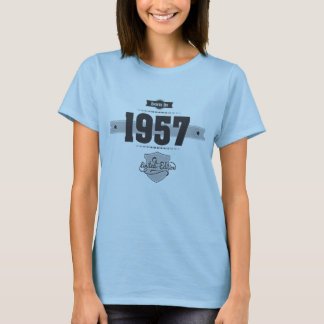 Born in 1957 (Dark&Lightgrey) T-Shirt