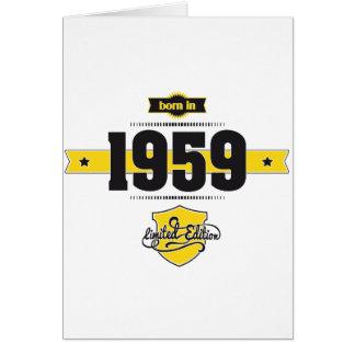 born in 1959 (choco&yellow) greeting card