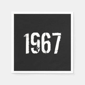 Born in 1967 50th Birthday Year Disposable Serviettes