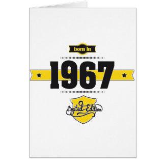 born in 1967 (choco&yellow) greeting card