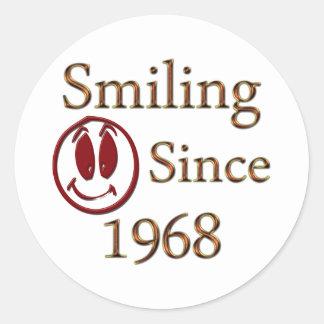 Born in 1968 classic round sticker