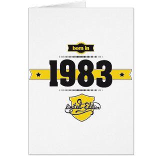born in 1983 (choco&yellow) greeting card