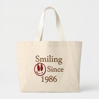 Born in 1986 tote bags