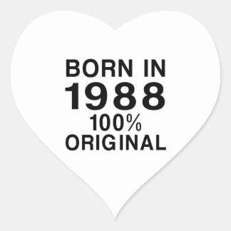 Born In 1988 Heart Sticker