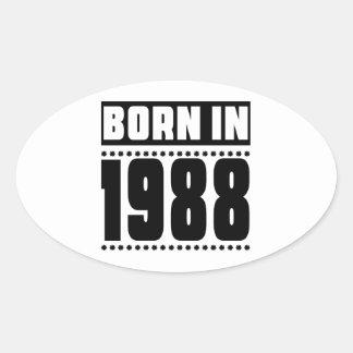 Born in 1988 oval sticker