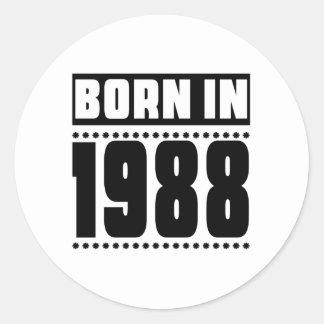 Born in 1988 round sticker