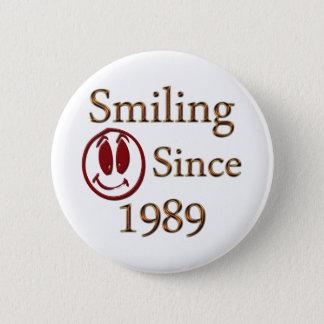 Born in 1989 6 cm round badge