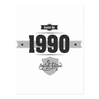 Born in 1990 (Dark&Lightgrey) Postcard