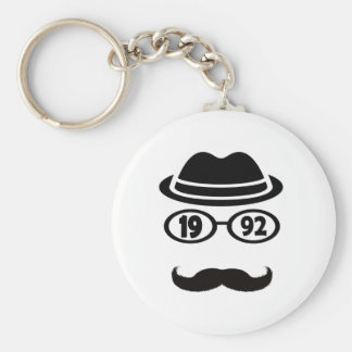 Born In 1992 Basic Round Button Key Ring