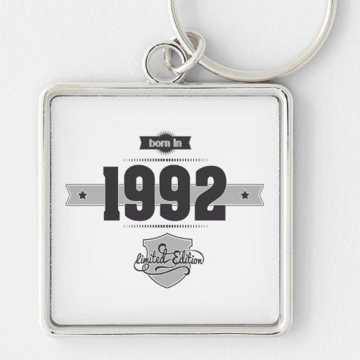 Born in 1992 (Dark&Lightgrey) Keychains