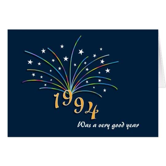 Born in 1994 Birthday Greeting Card