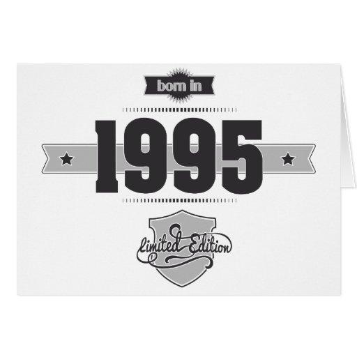 Born in 1995 (Dark&Lightgrey) Card