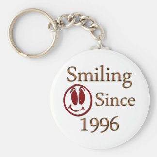 Born in 1996 basic round button key ring