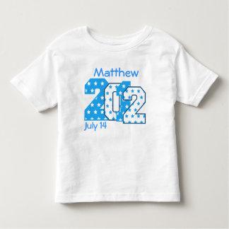 Born in 2012 Big Numbers Blue Stars BOY V04 Toddler T-Shirt