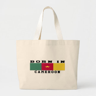 Born In Cameroon Canvas Bags