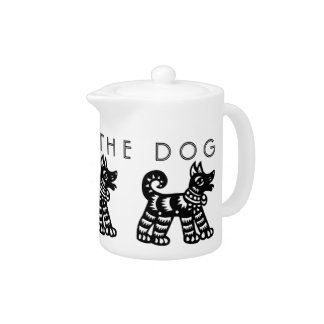 Born in Dog Year Chinese Zodiac Teapot