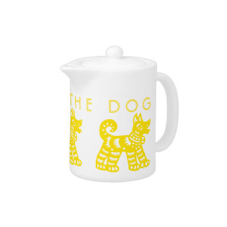 Born in Earth Dog Year Chinese Zodiac Teapot