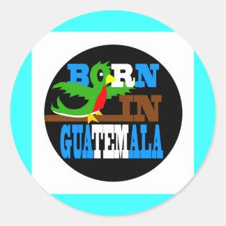Born in Guatemala Classic Round Sticker