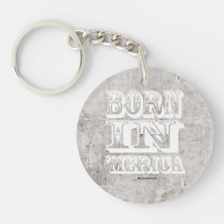 Born in 'Merica - Western Style Single-Sided Round Acrylic Keychain