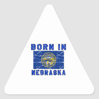 Born in Nebraska. Triangle Sticker