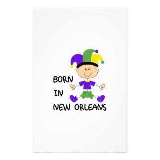 BORN IN NEW ORLEANS STATIONERY PAPER