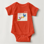 Born in Rooster Year Personalised Baby Bodysuit