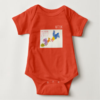 Born in Rooster Year Personalized Baby Bodysuit