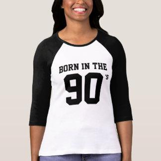 Born in The 90's Ladies Shirt - 3/4 Sleeve Raglan