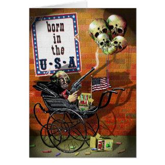 Born in the USA Greeting Card