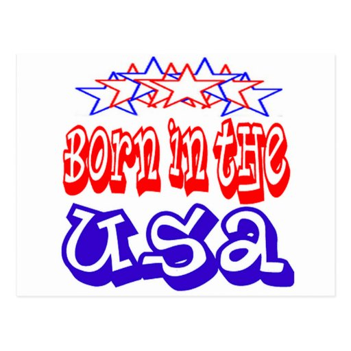 Born in the USA Cards Postcards