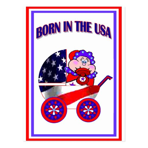 Born in the USA Post Card