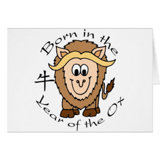 Born in the Year of the Ox Greeting Card
