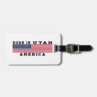 Born In Utah Luggage Tag