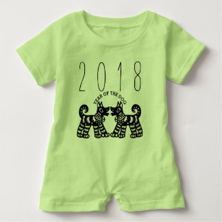 Born in Year of the Dog 2018 Baby Romper Baby Bodysuit