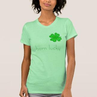 born lucky T-Shirt - Customized