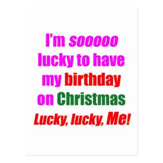 Born On Christmas Postcard