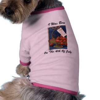 Born On The 4th Of July Pet T-shirt