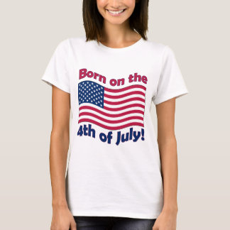Born on the 4th of July Ladies Baby Doll t-shirt