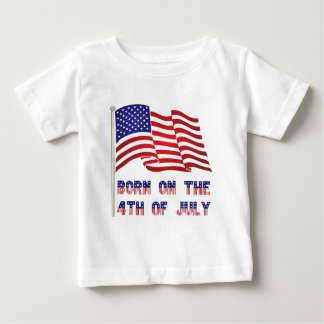 born on the 4th of july tees