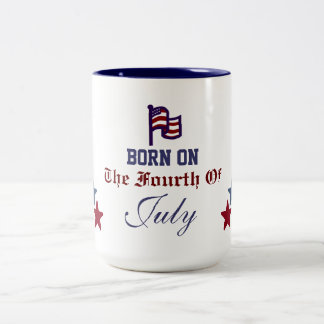 BORN ON THE FOURTH OF JULY MUG