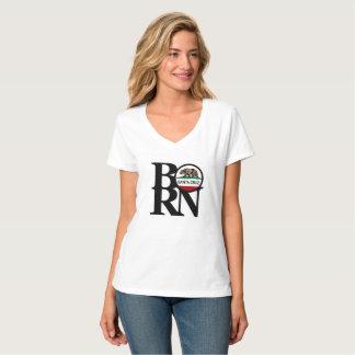 BORN Santa Cruz Womens White V Neck T-Shirt