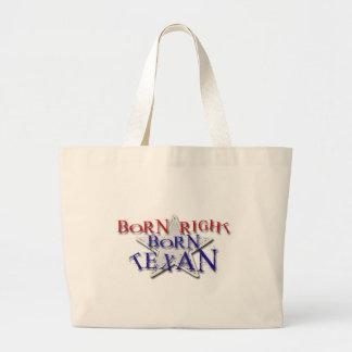 BORN TEXAN JUMBO TOTE BAG