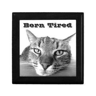 Born Tired Small Square Gift Box